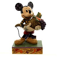 Jim Shore BOUNTIFUL BLESSINGS Polyresin Disney Mickey Mouse Fall Thanks 4046029
