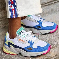 Adidas Falcon Contrast Fashion Women Casual Running Sport Shoes Sneakers