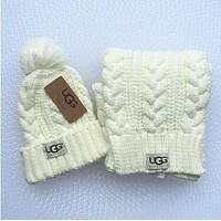 UGG men and women winter knit fashion hats & scarves F