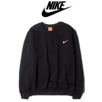 Nike Fashion long sleeve sweater thick Black