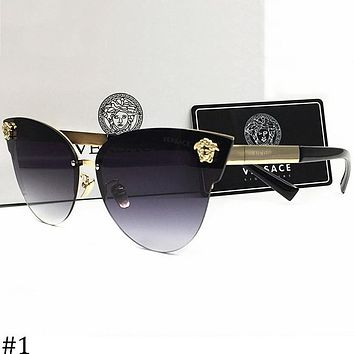 Versace 2018 men and women large frame polarized color film sunglasses F-AJIN-BCYJSH #1