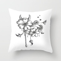 Flower  Throw Pillow by Ian Layne