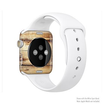 The Old Bolted Wooden Planks Full-Body Skin Kit for the Apple Watch