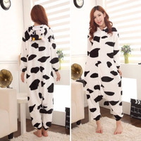 Kawaii pajamas milch cow cosplay unisex adult Onesuit jumpsuits costume