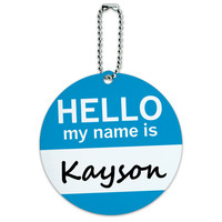 Kayson Hello My Name Is Round ID Card Luggage Tag