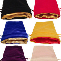 """Dice Bags:  Luxury Velvet with Satin interior.  4""""x6"""".  Great for Dungeons and Dragons Dice Accessories"""