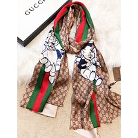GUCCI New fashion pig more letter print scarf women No Box