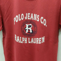 Vintage 90's Polo Jeans Ralph Lauren Red T-Shirt