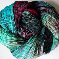 "STAR TREK Inspired Superwash Sock Yarn, ""Beam Me Up, Scotty"" 400 yards"