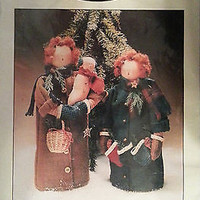 Raggedy Ann Andy Doll Pattern Raggedys Winter Holiday DeCuyper Tradeing c177