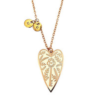 You Hold the Key Personalised Pendant Necklace - Gold