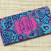 Custom Personalized License Plate, Monogrammed License Plate, Paisley LP Inspired
