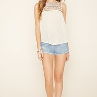 Embroidered Tribal-Inspired Top