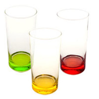 Bulk Famous-Maker Tinted-Base Clear Glass Coolers, 16 oz. at DollarTree.com