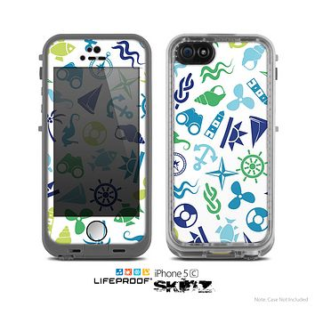 The Nautical Vector Shapes Skin for the Apple iPhone 5c LifeProof Case