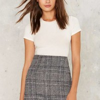 Motel Diaz Plaid Skirt