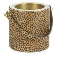 "9"" Leopard-Print Wine Cooler, Gold, Ice Buckets"