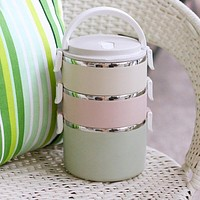 Food Fruit Container Storage Bento Lunch Box Set Stainless Steel Japanese Bento Box Portable Picnic With Dinnerware Thermal Bag