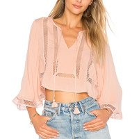 ale by alessandra Ferrera Blouse in Natural | REVOLVE