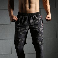 Summer Mens Shorts Calf-Length Fitness Bodybuilding Motion Gyms Joggers Workout Color Obsessed  Short Pants Sweatpants