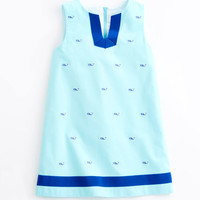 Girls Whale Embroidered Tunic Dress