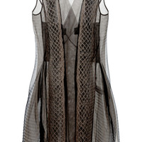 Breeze Mantle In Dark Dust Tulle by Rick Owens - Moda Operandi