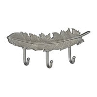 Silver Feather Wall Hook