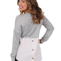 Back To You Gray Blouse | Monday Dress Boutique