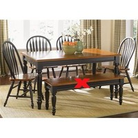 Liberty Furniture Low Country 5 Piece Rectangular Table Set in Anchor Black with Suntan Bronze