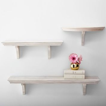 Simple Shelves, Aged White