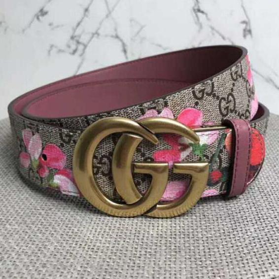 Image of GG Men's and Women's Double G Smooth Buckle Belt