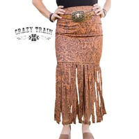 Crazy Train Women's Lonestar Fringe Skirt