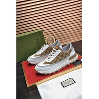 Gucci Men Fashion Boots fashionable Casual leather Breathable Sneakers Running Shoes0524em