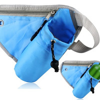 Multifunctional Tri-angle Design Waist Fanny Pack (Blue)