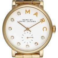 Women's MARC BY MARC JACOBS 'Baker' Crystal Index Bracelet Watch, 37mm - Gold