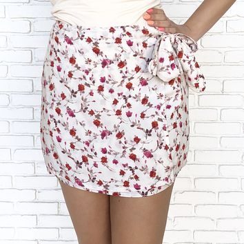Floral Dreams Ivory Skirt