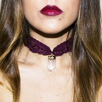 Lace Choker with Crystal