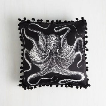 Nautical Count to Tentacle Nautical Pillow by ModCloth