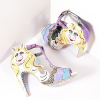 Irregular Choice Light Purple Original Diva T-Strap Heels
