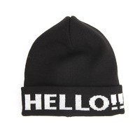ZLYC Unisex Fashion Embroidery Letter Warm Knit Ribbed Knitted Beanie Ski Hat Snowboard Hat Cap