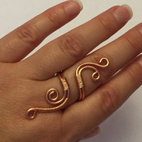 Copper wire ring-wire wrapped ring-copper ring-copper jewelry-wire ring