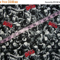 The Walking Dead fabric zombies  walkers quilt cotton quilting sewing material to craft by the yard