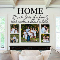 """Love of Family Makes a House a Home Quote Vinyl Wall Decal 28"""" Wide by 10"""" High"""