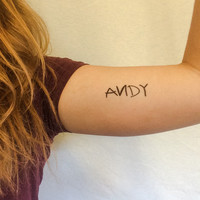 Toy Story ANDY Temporary Tattoos