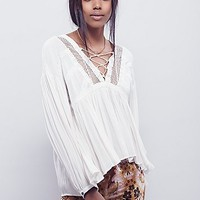 Free People Womens Dont Let Go Peasant Blouse