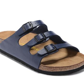 Men's and Women's BIRKENSTOCK sandals Florida Soft Footbed Birko-Flor 632632288-057