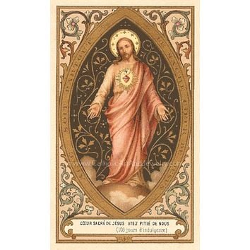 "Sacred Heart of Jesus – 8.5x11"" Catholic Art Print"