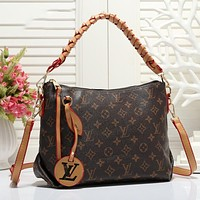 Louis Vuitton LV Classic Braided Belt Handbag Ladies Shoulder Messenger Bag