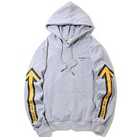 Off White  Women or Men Fashion Casual  Top Sweater Hoodie