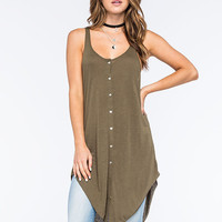 Others Follow Dylen Sleeveless Womens Knit Top Olive  In Sizes